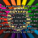 Food For Thought Tuesday – Color Perception